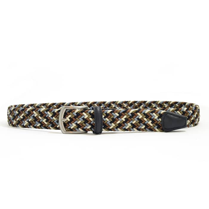 Andersons B0667 Woven Textile Belt Brown, Navy and White