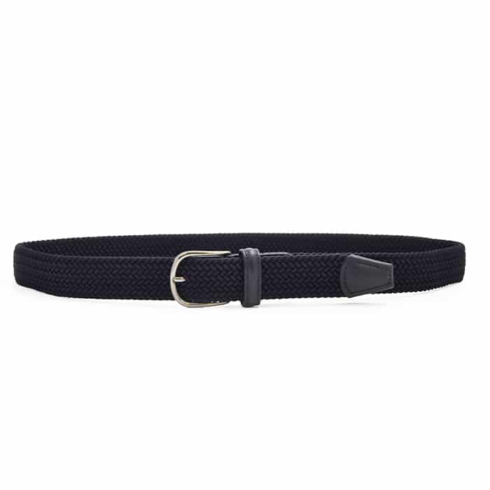 Andersons B0667 Woven Textile Belt Navy