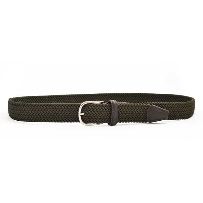 Andersons B0667 Woven Textile Belt Olive Green