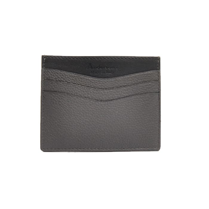 Andersons Leather Card Holder Grey