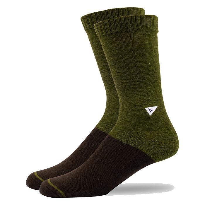 Arvin Goods Casual Socks Olive Green