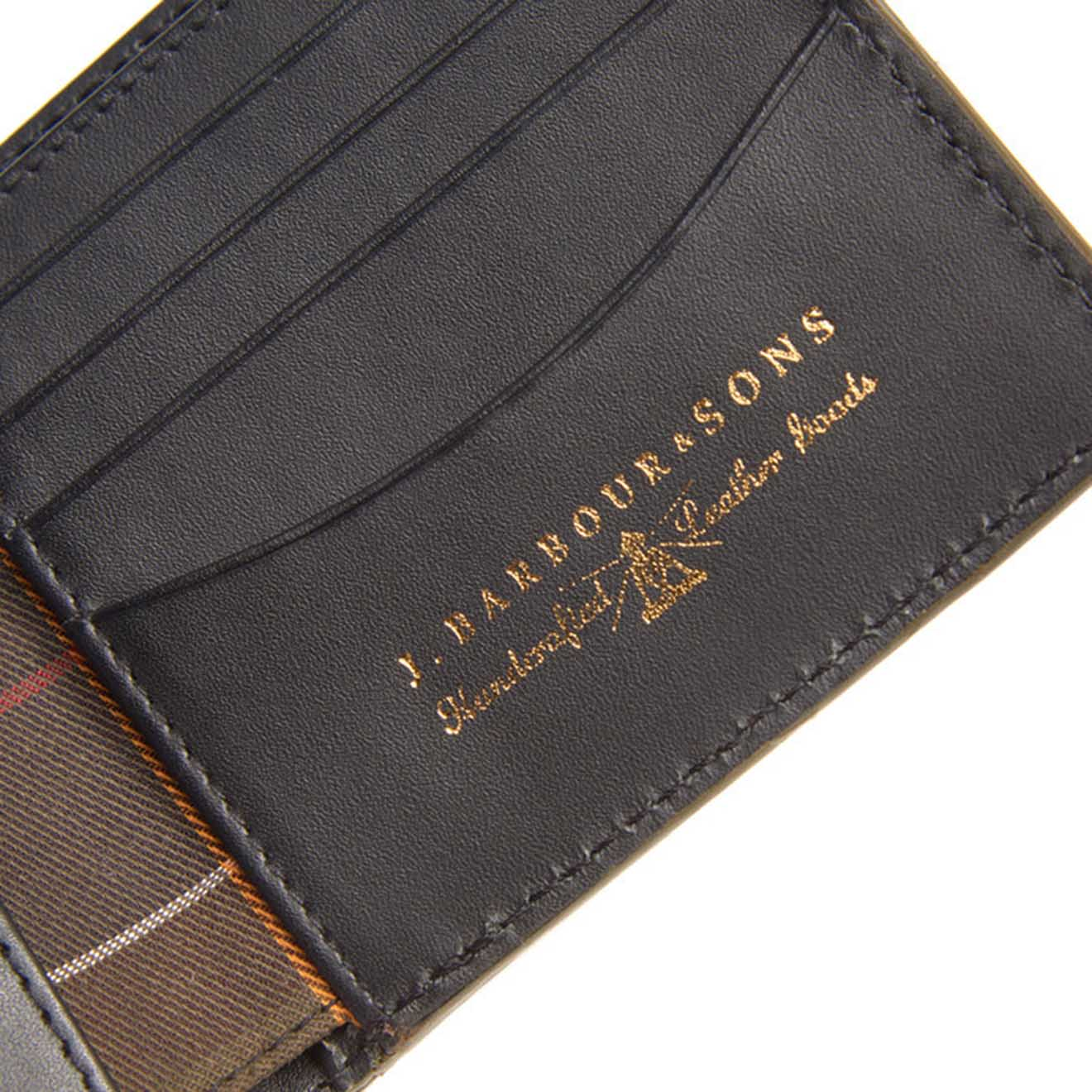 47c978ab Barbour Grain Leather Billfold Wallet Black - Parasol Store