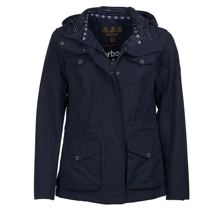 Barbour Womens Appin Waterproof Breathable Jacket Navy