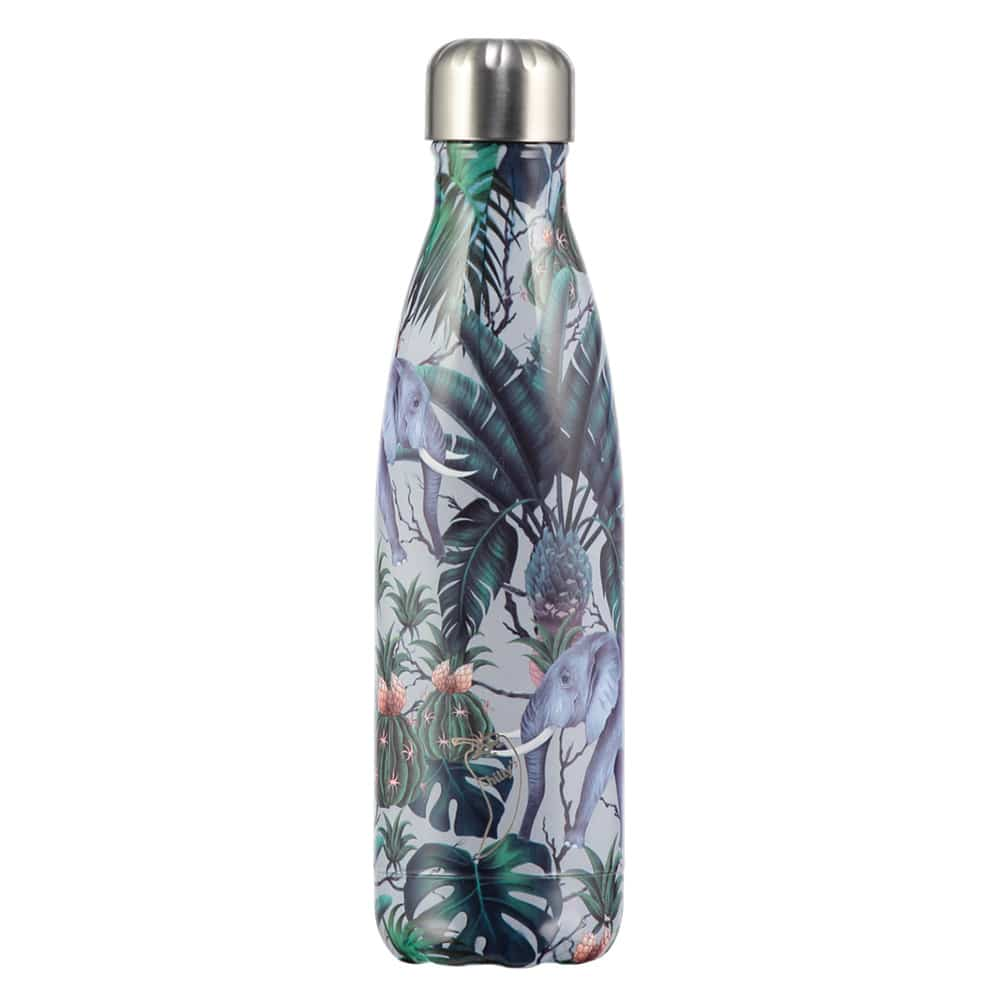 Chillys 750ml Water Bottle Tropical Elephant