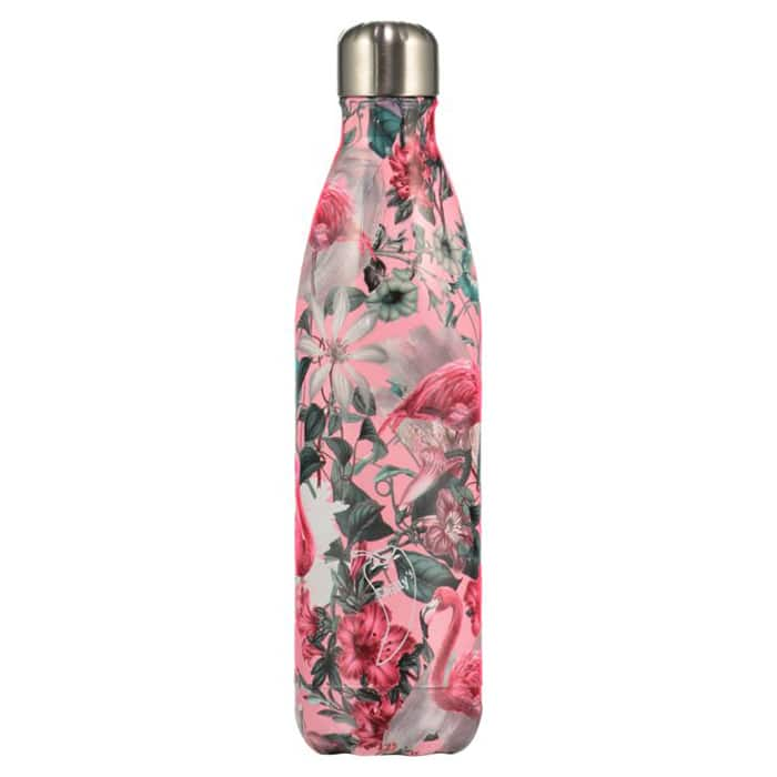 Chillys 750ml Water Bottle Tropical Flamingo