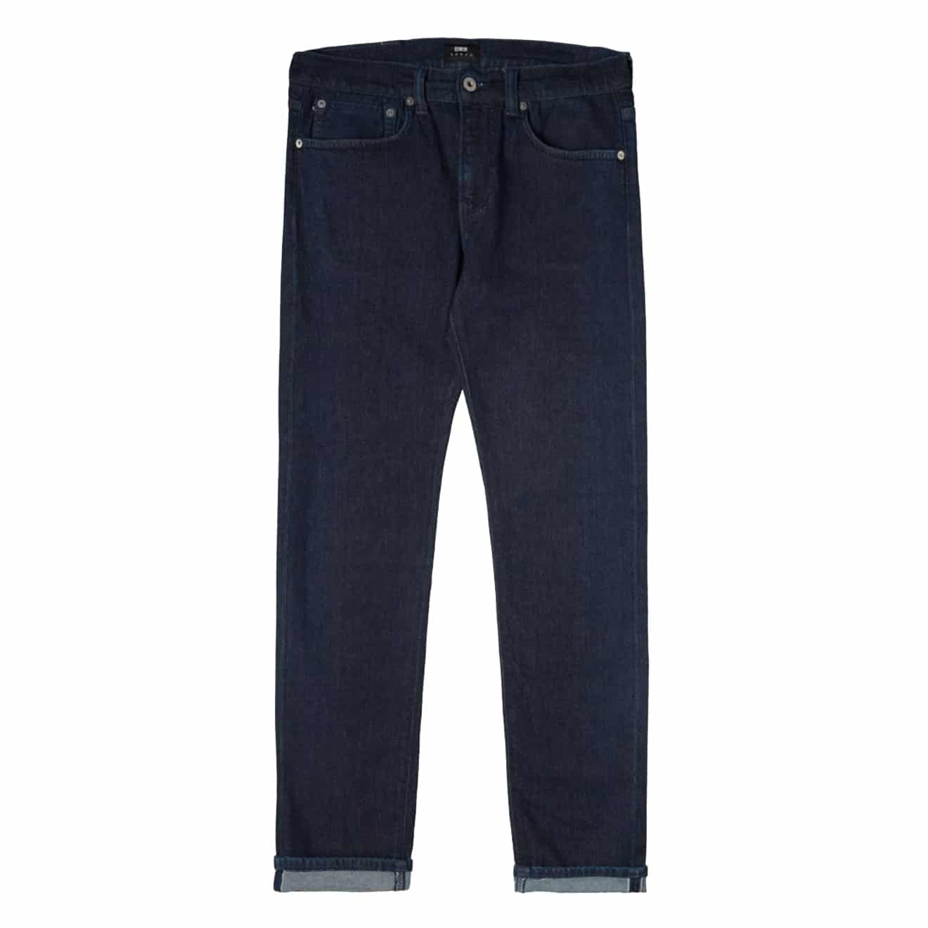 Edwin ED80 CS Red Listed Blue Rinsed Jeans