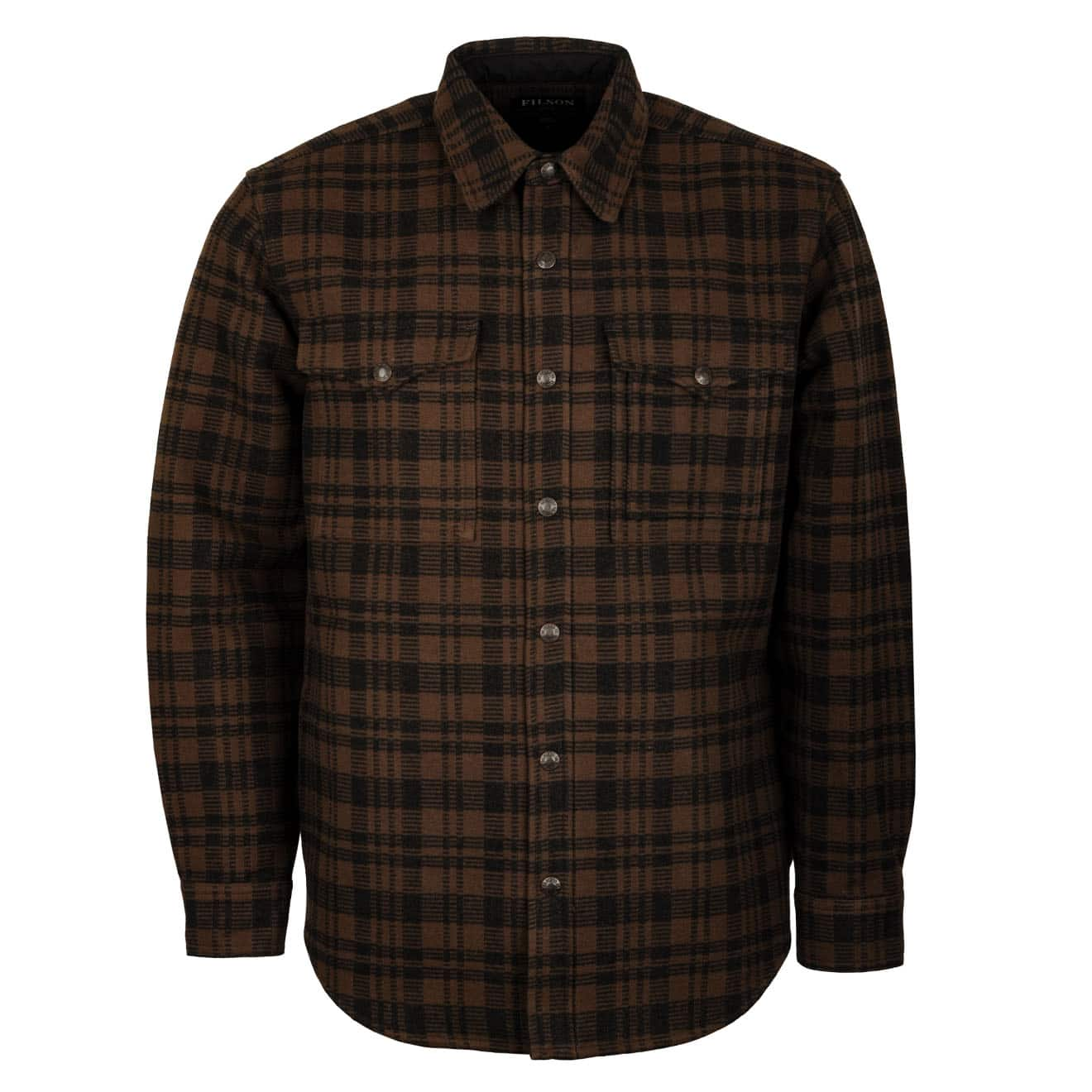 Filson Beartooth Jac Shirt Dark Brown Charcoal