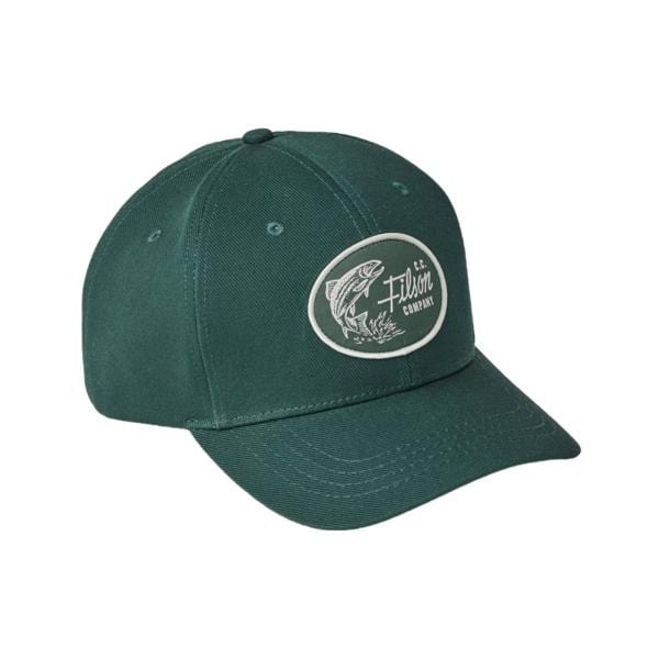 Filson Denim Logger Cap Hunter Green1