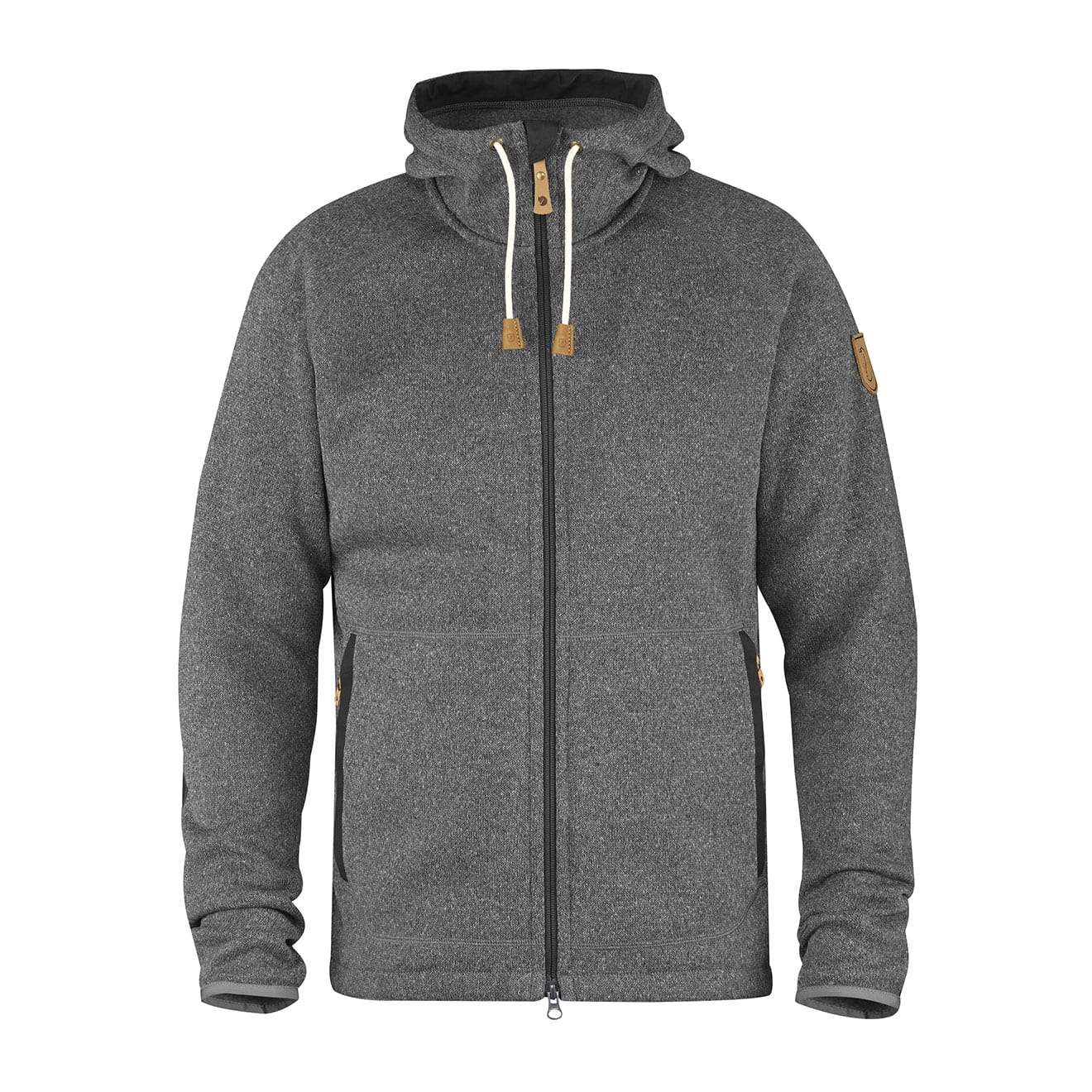 Details about SALE EVENT! Fjallraven Ovik Fleece Hoodie Dark Grey