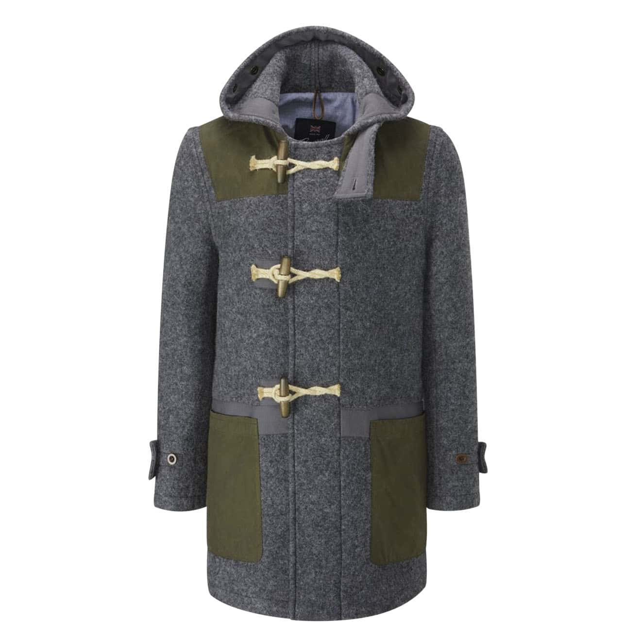 Gloverall New Monty With HYB Patches Khaki