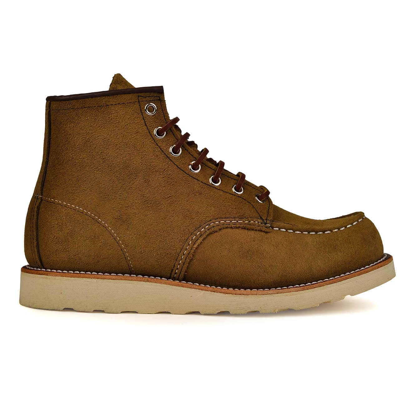 Red Wing 6-inch Classic Moc Boot Olive Mohave Leather