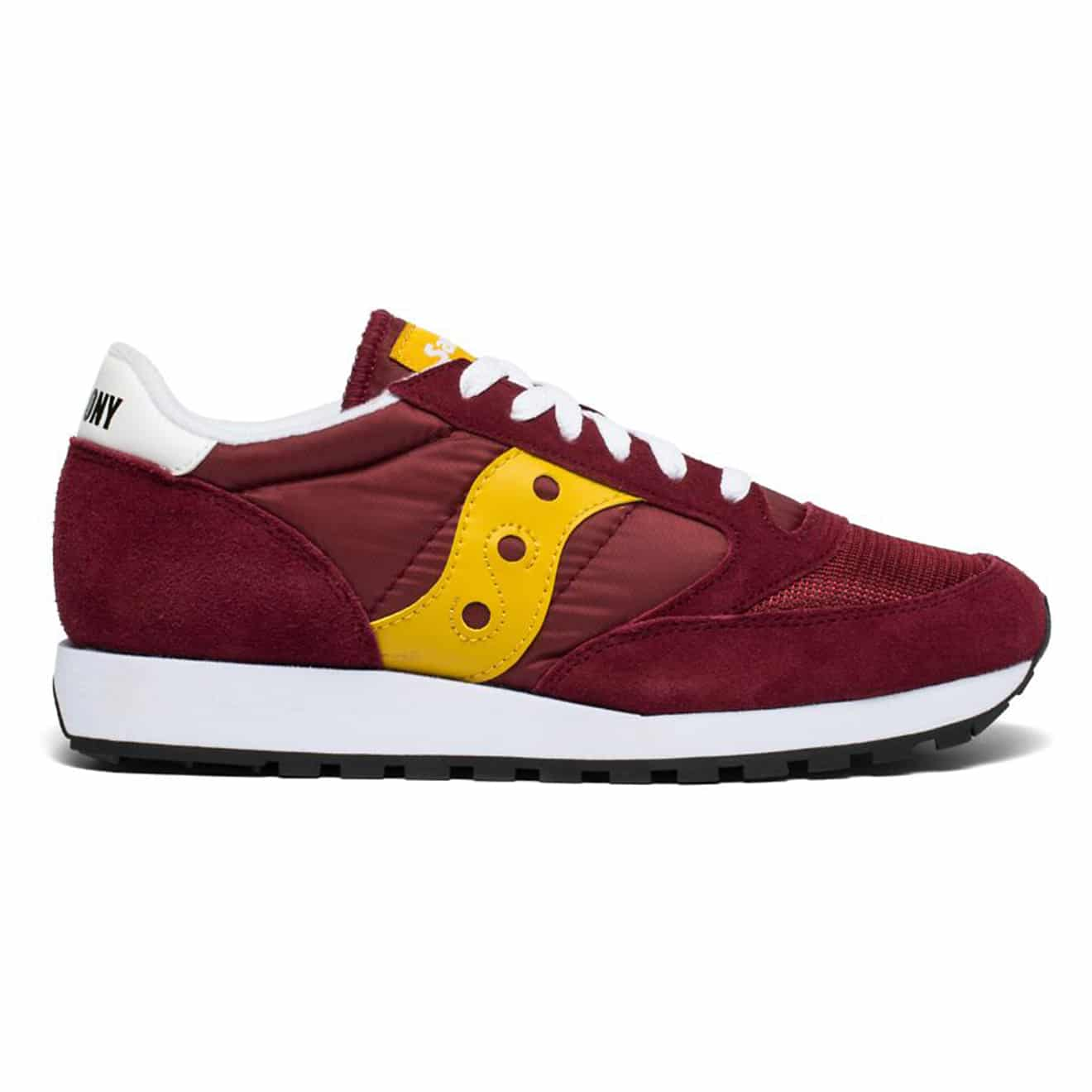 timeless design 89187 9ae08 Saucony Jazz Original Vintage Trainer Maroon / Yellow