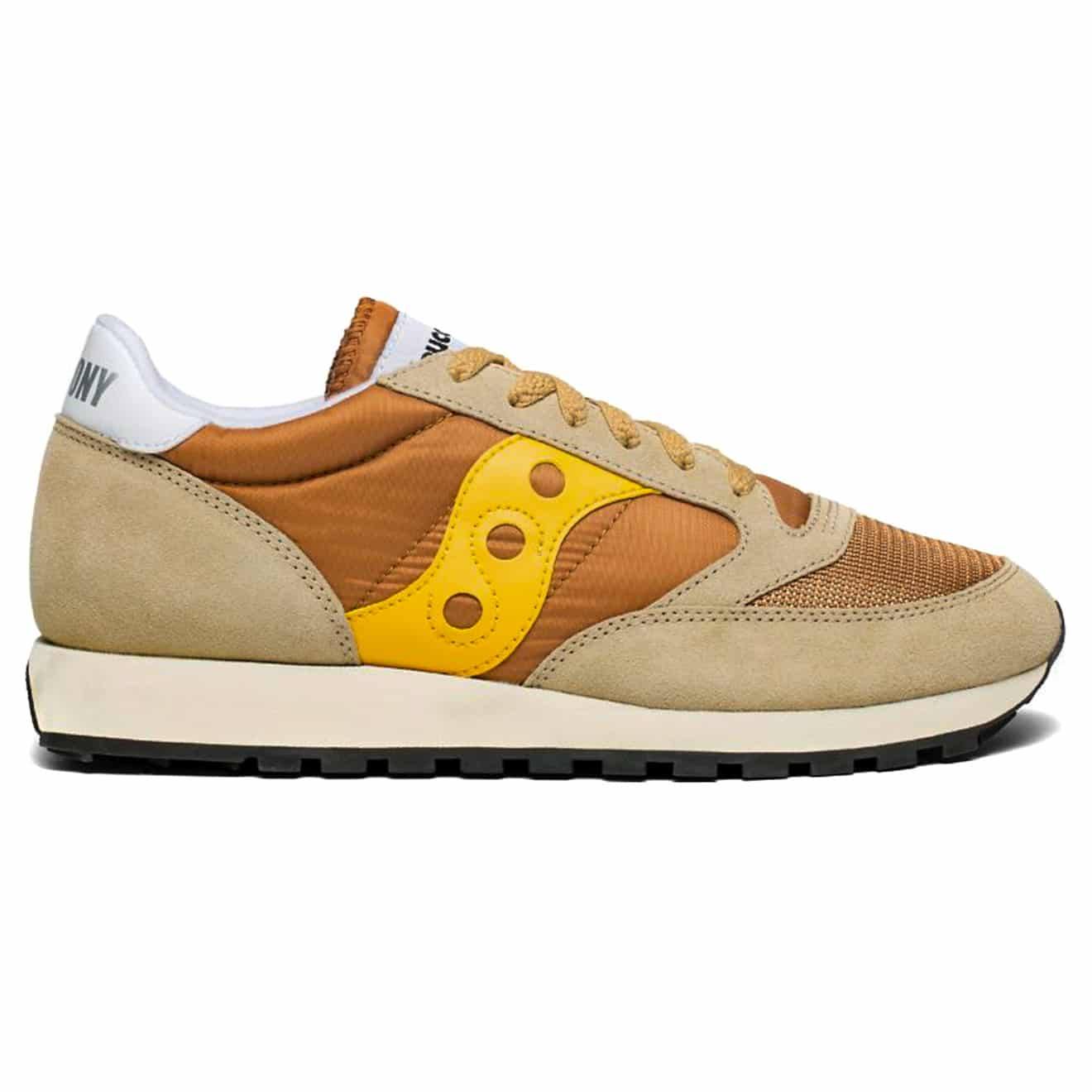62f607e7c REDUCED! Saucony Jazz Original Vintage Trainers Tan   Yellow