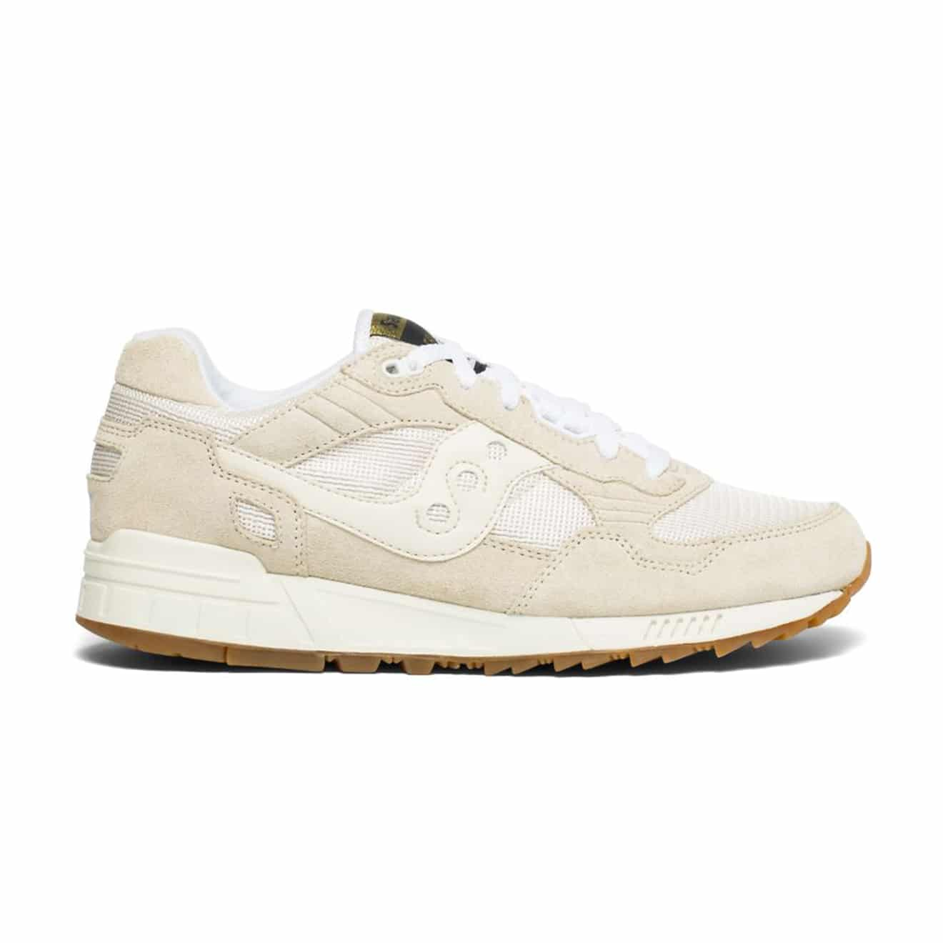 new concept d2355 be6c7 Saucony Shadow 5000 Vintage Trainers Tan / White