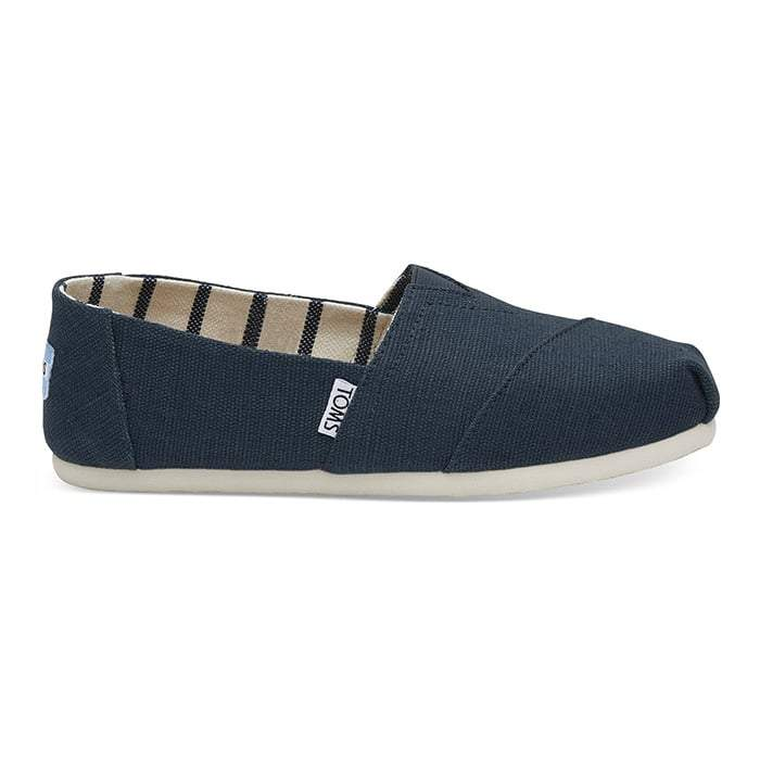 Toms Womens Heritage Canvas Classics Majolica Blue