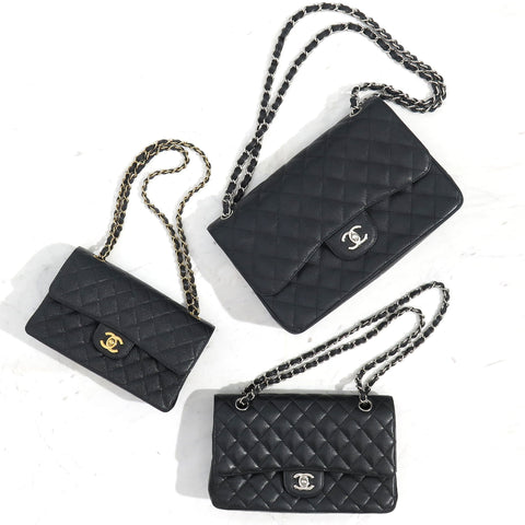 d2ddd8728a4a81 Below, we have a photo of three classic Chanel Flap Bags. Two are  authentic, one is a fake. Can you spot it?