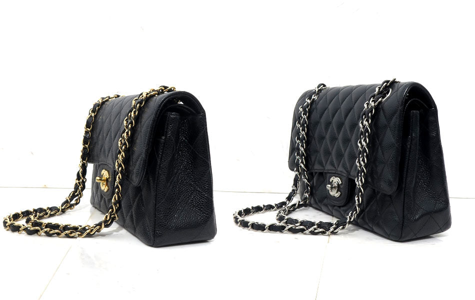 0e372a6e496 The chain straps also start further back on the authentic version. Chanel  Flap Bag