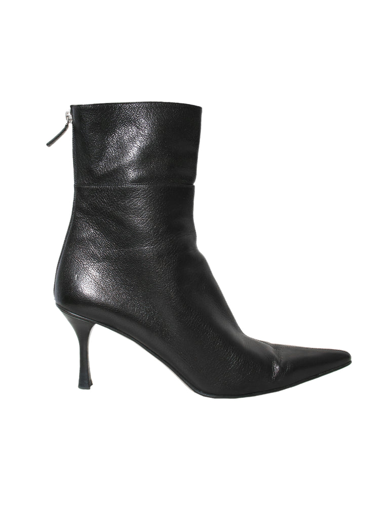 Gucci Pointed Leather Boots