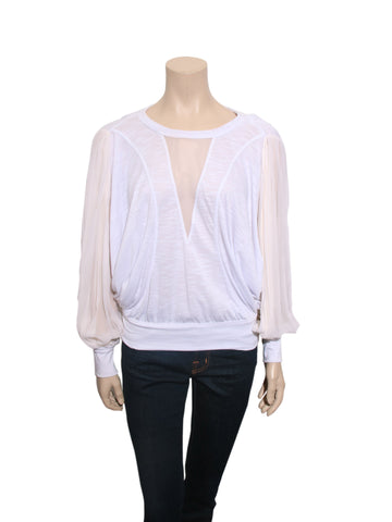 Robert Rodriguez Silk Sleeve Top