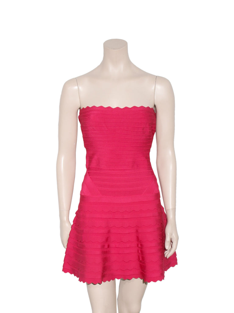 Herve Leger Scalloped Phoebe Bandage Dress