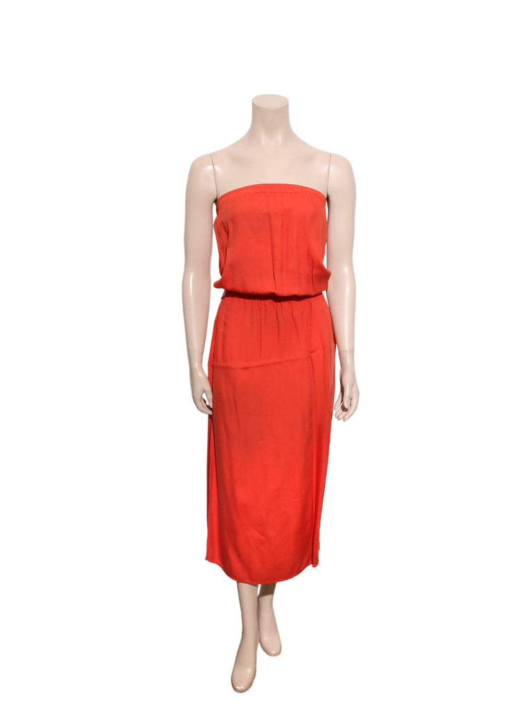 Michael Kors Strapless Red Dress