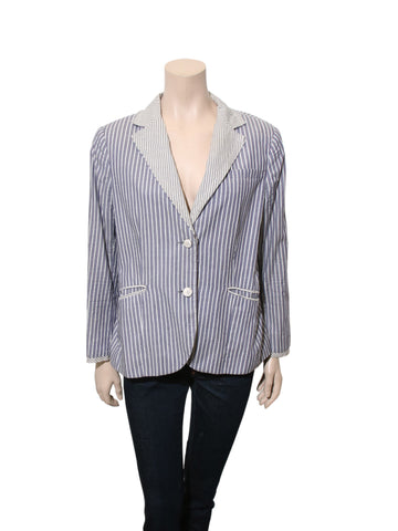 Rag & Bone Stripe Cotton Blazer