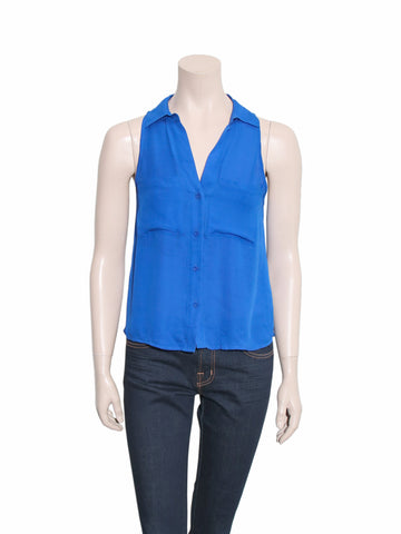 Chelsea Flower Silk Sleeveless Blouse