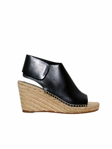 Celine Leather Espadrille Wedge Sandals