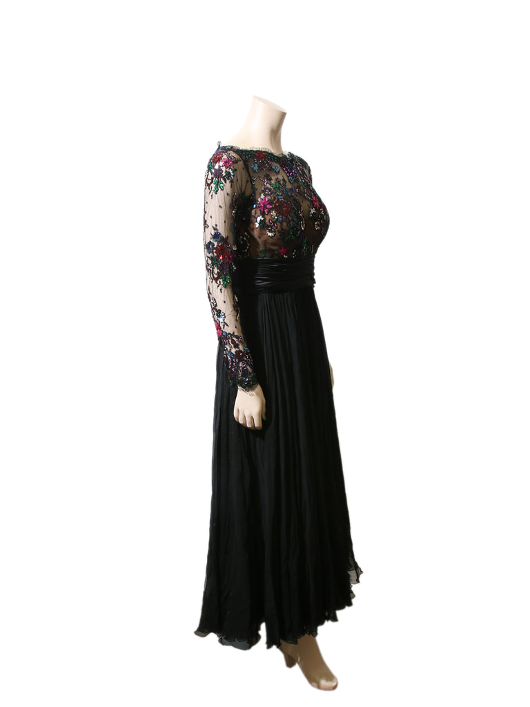 Zuhair Murad Embellished Silk & Lace Gown