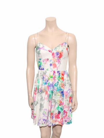 Amanda Uprichard Silk Floral Dress