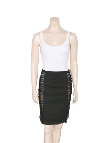 Fendi Tulle-Panelled Pencil Skirt