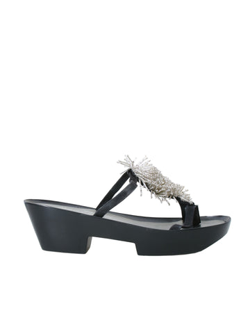 Robert Clergerie Beaded Platform Sandals