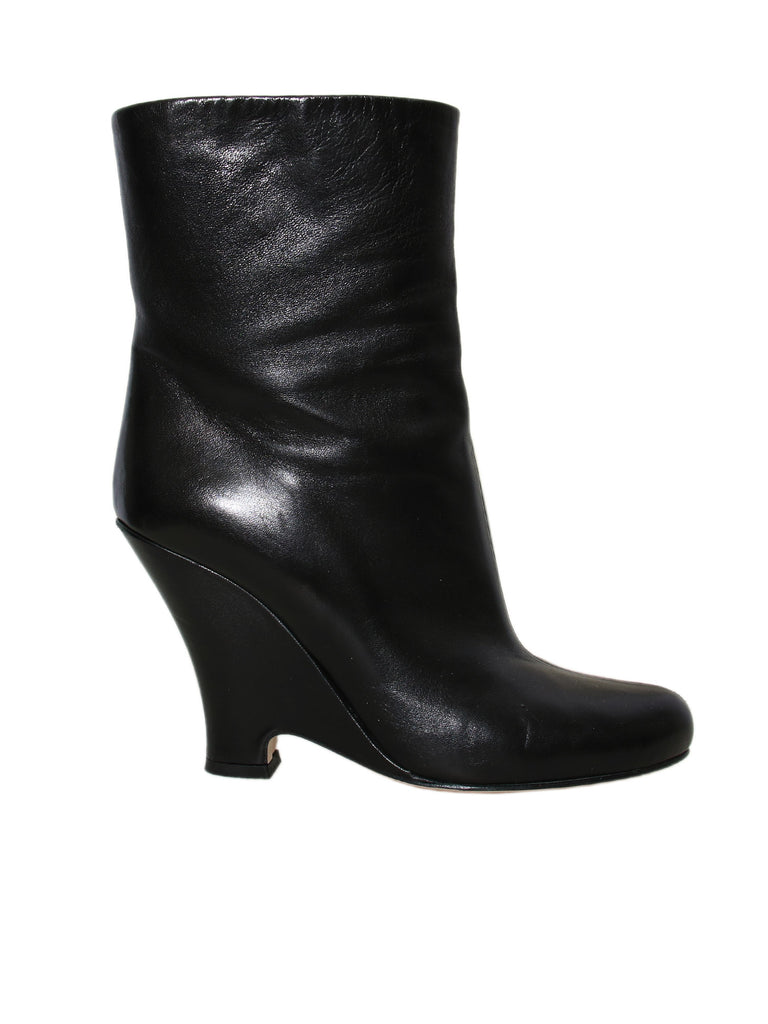 Miu Miu Leather Wedge Booties