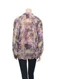 Elizabeth and James Printed Silk Blouse