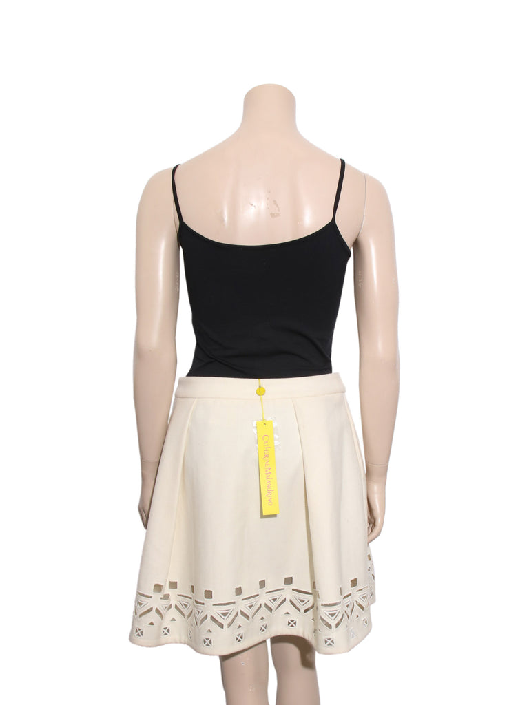 Catherine Malandrino Wool Cut-Out Skirt