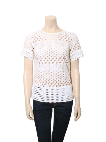 Michael Kors Cotton Eyelet Top