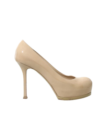 Yves Saint Laurent Tribute Two Patent Leather Pumps
