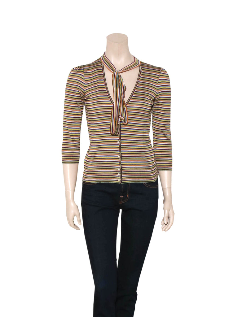 Dolce & Gabbana Striped Silk Top