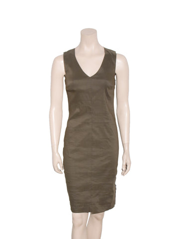 Sarah Pacini Linen Sleeveless Dress