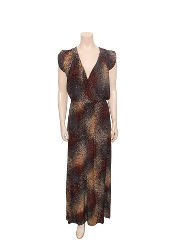 Parker Printed Wrap-Front Maxi Dress