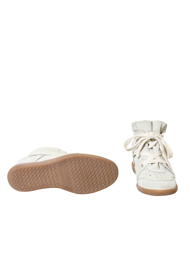 Isabel Marant Suede Bobby Wedge Sneakers