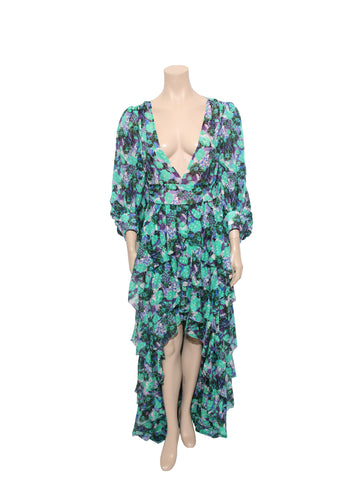 Emanuel Ungaro Floral High-Low Gown