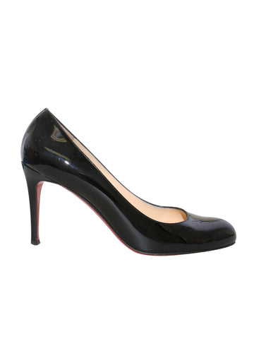 Christian Louboutin Patent Leather Round Toe Pumps