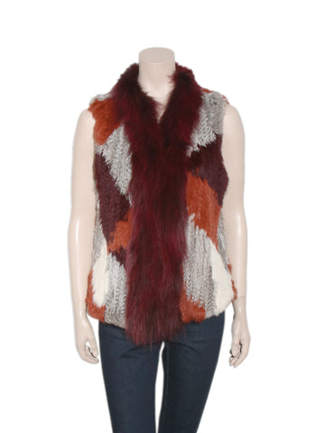 Elizabeth and James Rabbit and Coyote Fur Vest