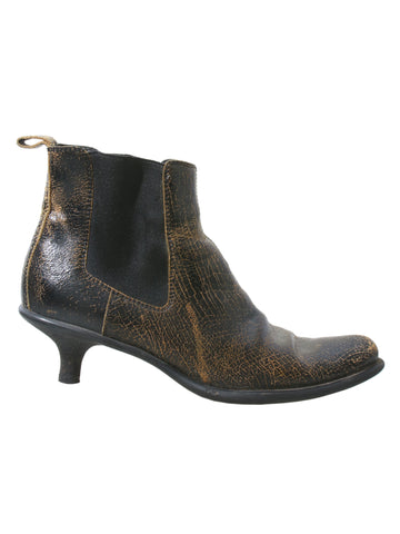 Miu Miu Distressed Leather Booties