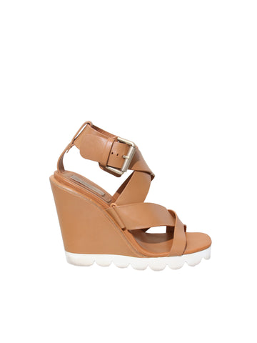 See by Chloé Leather Wedge Sandals