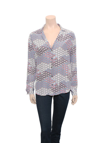 Equipment Printed Silk Blouse