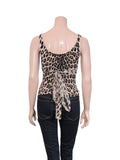 Blumarine Leopard Beaded Top