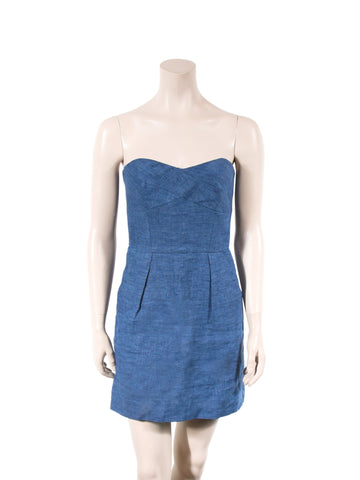 Milly Strapless Linen Dress