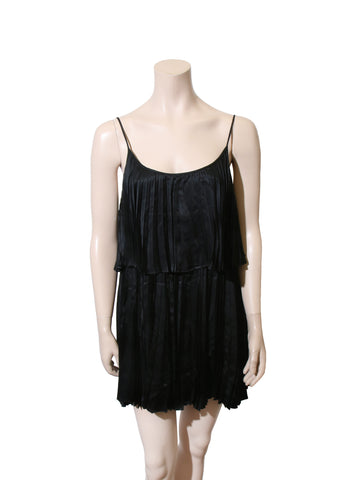 Halston Heritage Pleated Silk Dress